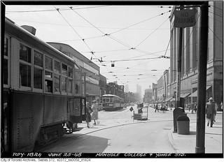College and Yonge streets, looking south