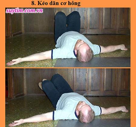 Động tác tập thể dục thứ 8 cho người bệnh suy tim