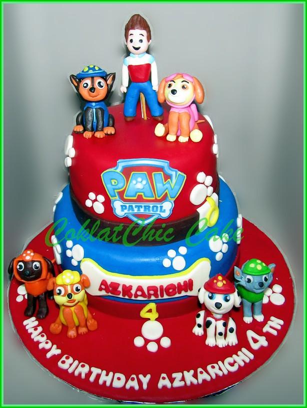 Cake Paw Patrol AZKARICHI 15 cm dan 12 cm