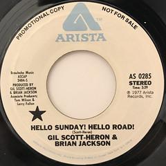 GIL SCOTT-HERON & BRIAN JACKSON:HELLO SUNDAY! HELLO ROAD!(LABEL SIDE-A)