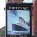 The Titanic pub sign Southampton Hampshire UK