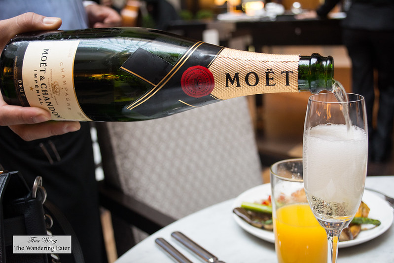 Pouring Moët & Chandon Champagne