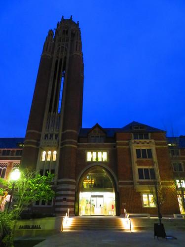 University of Chicago Saieh Hall at Twilight
