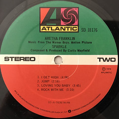 ARETHA FRANKLIN:SPARKLE(LABEL SIDE-B)