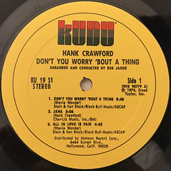 HANK CRAWFORD:DON'T TOU WORRY 'BOUT A THING(LABEL SIDE-A)