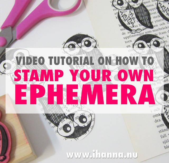 Stamp your own scrap die cut ephemera - tutorial by iHanna #stamps