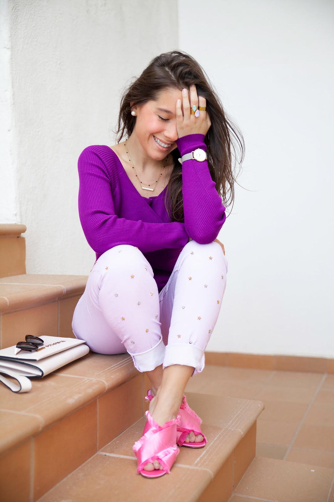 utra violet color del año 2018 Pantone outfit violeta theguestgirl Highly Preppy ss18 Brand Ambassador