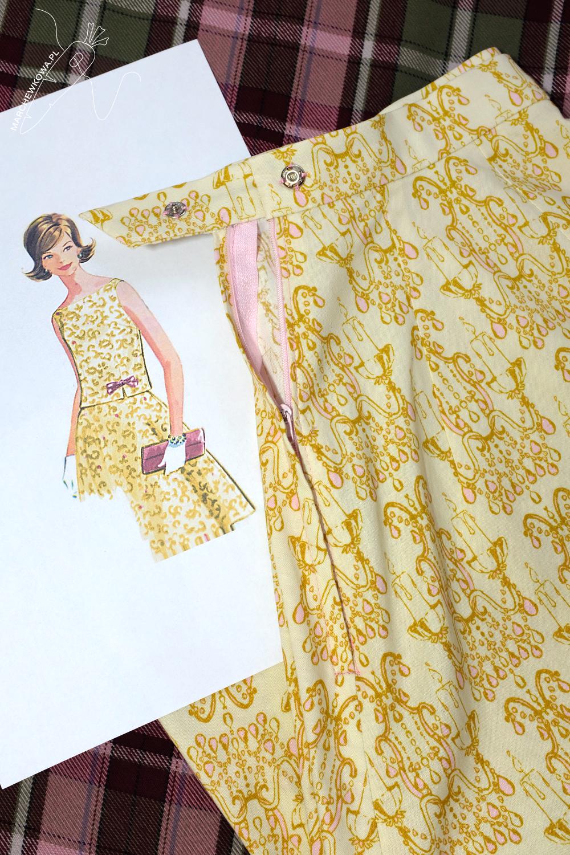 marchewkowa, blog, szycie, sewing, rękodzieło, handmade, moda, styl, vintage, retro, repro, 1950s, Wrocław szyje, w starym stylu, McCall's 6273, two-piece dress, komplet, ręcznie wykończenia, sukienka dwuczęściowa