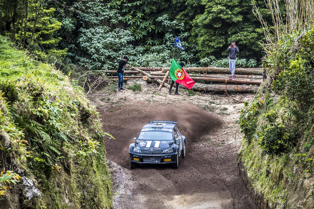 11 INGRAM Chris (gbr), WHITTOCK Ross (gbr) , TOKSPORT WRT, SKODA FABIA R5, action11 INGRAM Chris (gbr), WHITTOCK Ross (gbr) , TOKSPORT WRT, SKODA FABIA R5, action during the 2018 European Rally Championship ERC Azores rally,  from March 22 to 24, at Ponta Delgada Portugal - Photo Gregory Lenormand / DPPI