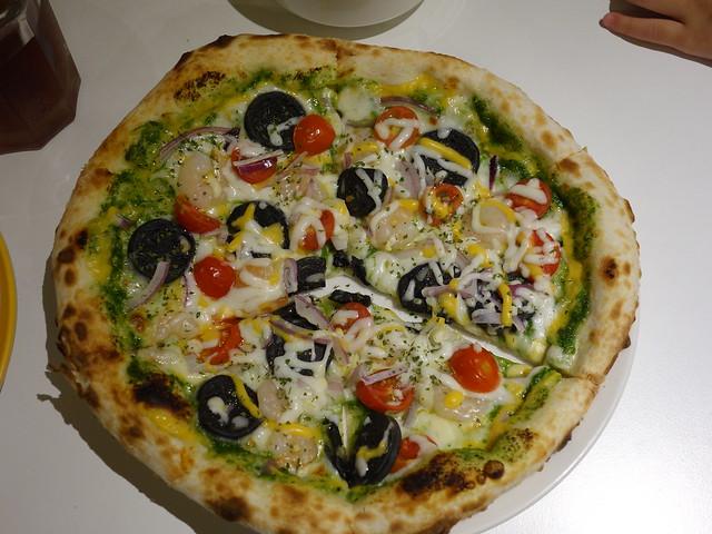 青醬海鮮披薩@新北永和Joe's Pizza手工窯烤披薩
