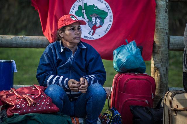 Militante del Movimiento de Trabajadores Sin Tierra (MST) - Créditos: Mídia Ninja