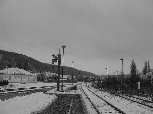 Bahnhof Sondershausen, Ausfahrt nach, Canon POWERSHOT A95