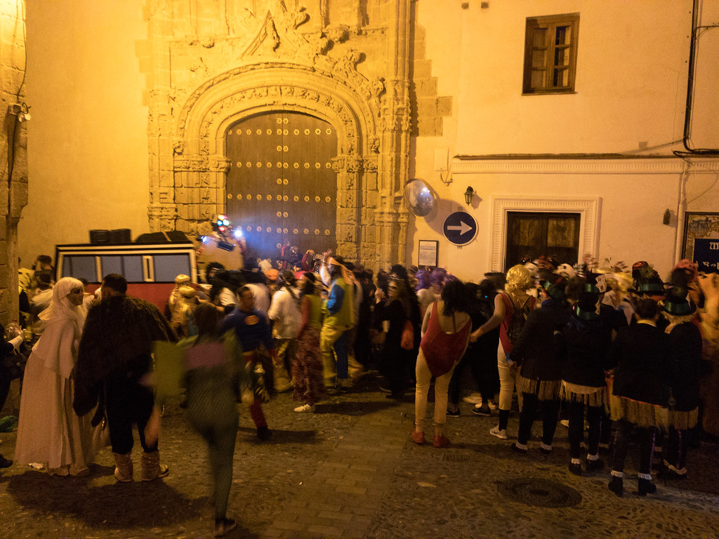Fiesta time in Arcos de la Frontera. All 20,000 residents were out on the town