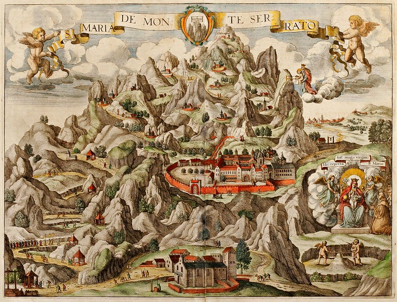 Johannes Janssonius - Coloured town view of Montserrat (1657)