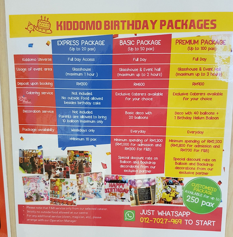 kiddomo universe birthday packages