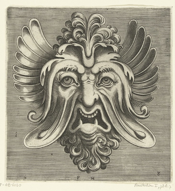 003-Flemish mask designs in the grotesque style 1555- Cornelis Floris- Rijksmuseum