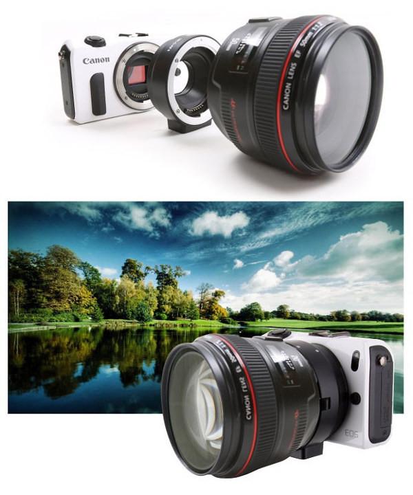 MK-C-AF4 EOS-EOSM EOS-EFM EF-EOSM EF-EFM Auto Focus Lens Mount Adapter ef ef-s canon eos m ef-m mount camera