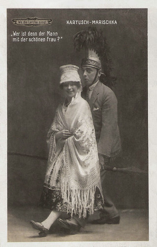 Louise Kartousch and Hubert Marischka in Wo die Lerche singt (1918)