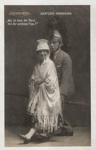 Louise Kartousch and Hubert Marischka in Wo die Lerche singt (1918)