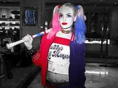 color-blocked Harley