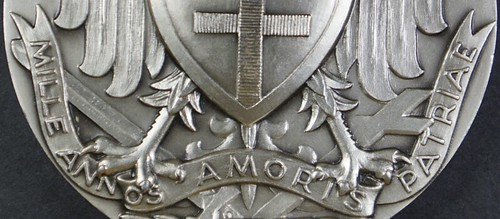 Polish medal MILLE ANNOS AMORIS PATRIAE on scroll