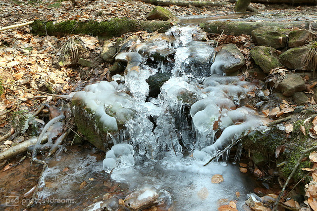 the little icy waterfall