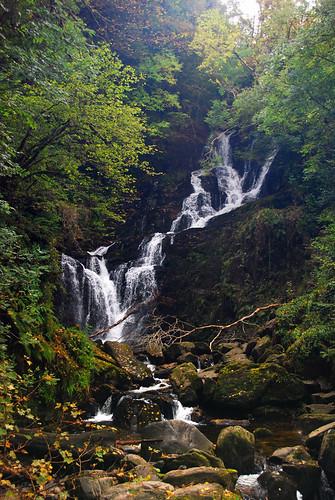 Waterfall at Killarney National Park in Ireland