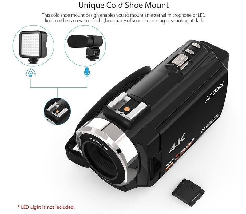Andoer 4K ビデオカメラ (8)