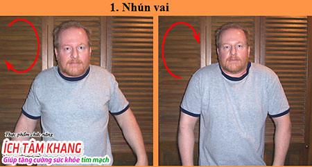 Động tác tập thể dục thứ 1 cho người bệnh suy tim