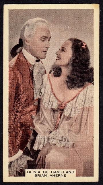 Cigarette Card - Olivia de Havilland and Brian Aherne