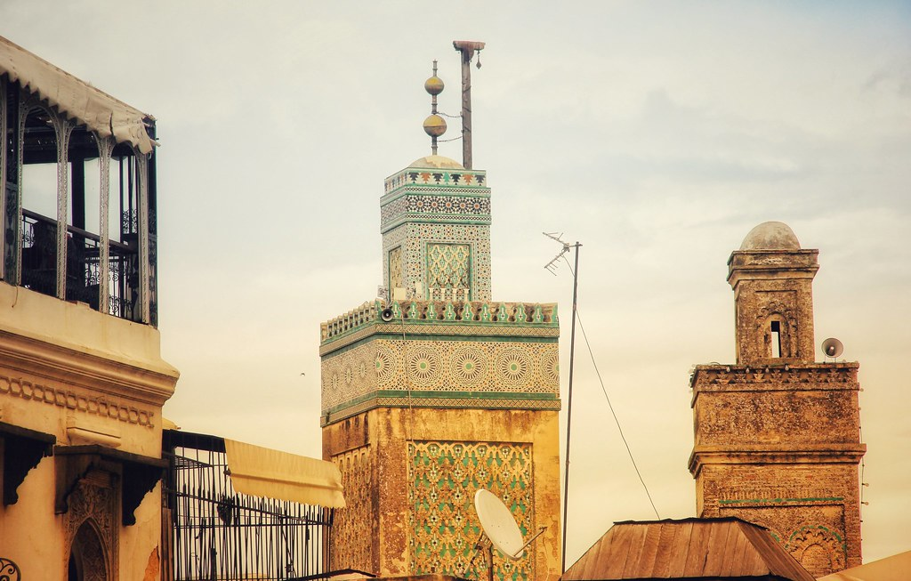 View into Fes' medina from Bab Bou Jeloud