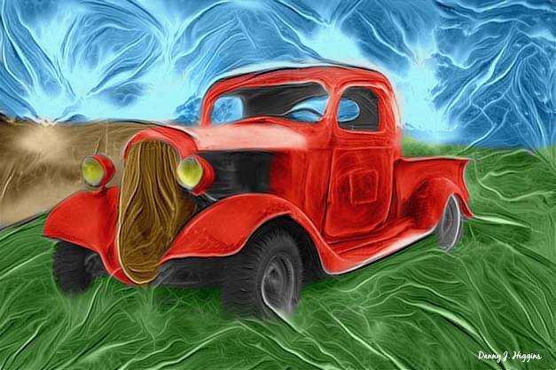 Old Rusty Farm Truck In Wisconsin.  .