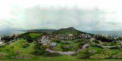 Kapiolani Park in Waikiki shot from my DJI Mavic Pro hovering at 303 feet - an aerial 360 Equirectangular VR