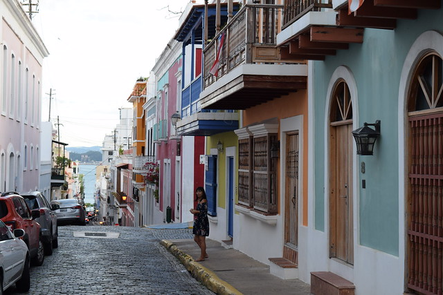 キューバのトリニダーを思い出すプエルトリコの街並み