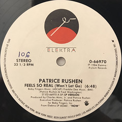PATRICE RUSHEN:FEEL SO REAL(WON'T LET GO)(LABEL SIDE-A)