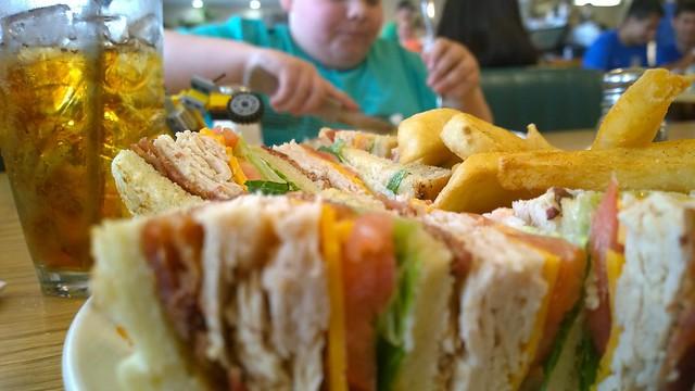 Club sandwich on a Sunday