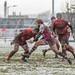 Rotherham's Joe Barker spreads the play-3476