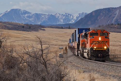 bnsf bnsf8515 emd sd70ace greenland colorado jointline pikespeak rampartrange greenlandopenspace train railroad