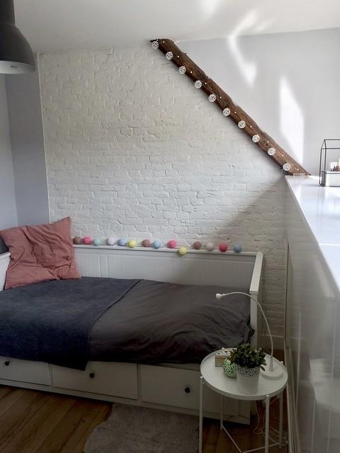 Slaapbank, cotton ball lights
