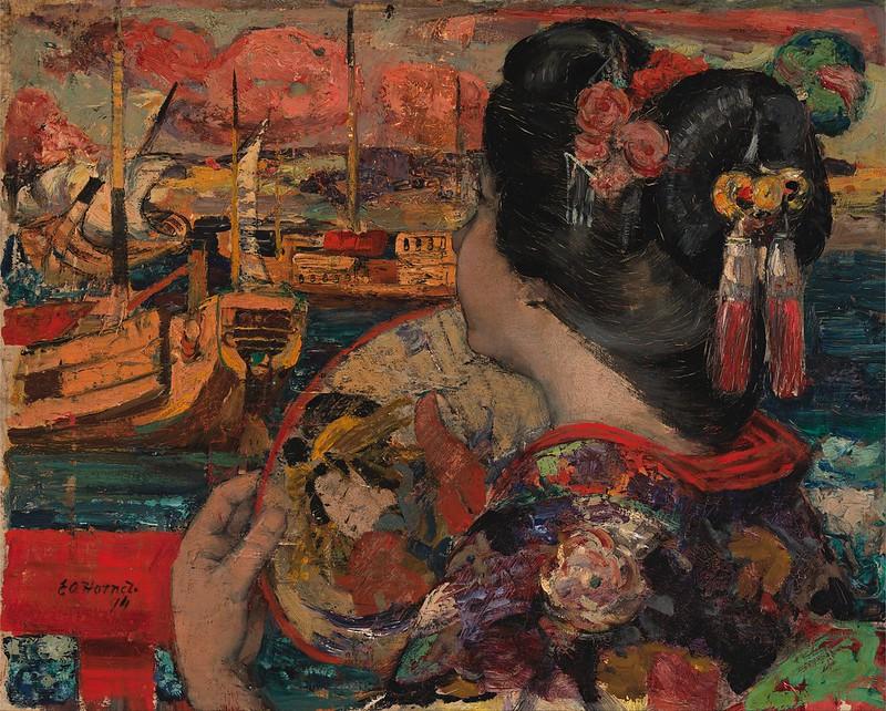 Edward Atkinson Hornel - The Balcony, Yokohama (1894)
