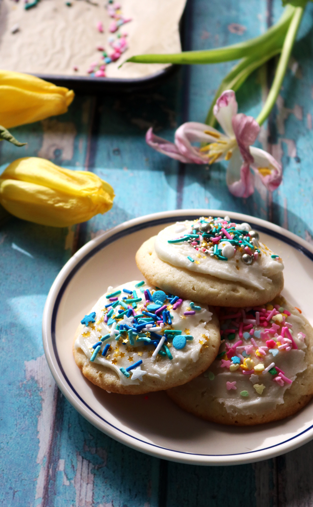 Homemade Soft and Fluffy Frosted Lofthouse Style Cookies