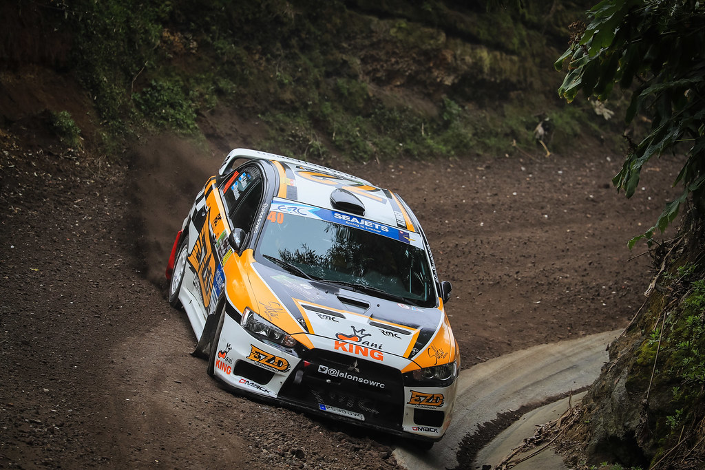 40 ALONSO Juan Carlo (arg), MONASTEROLO Juan Pablo (arg), MITSUBISHI LANCER EVO X, action during the 2018 European Rally Championship ERC Azores rally,  from March 22 to 24, at Ponta Delgada Portugal - Photo Jorge Cunha / DPPI