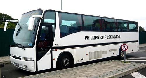 YP52 KAE 'Phillips of Ruskington', Linc's. Volvo B12M / Berkhof Axial on 'Dennis Basford's railsroadsrunways.blogspot.co.uk'