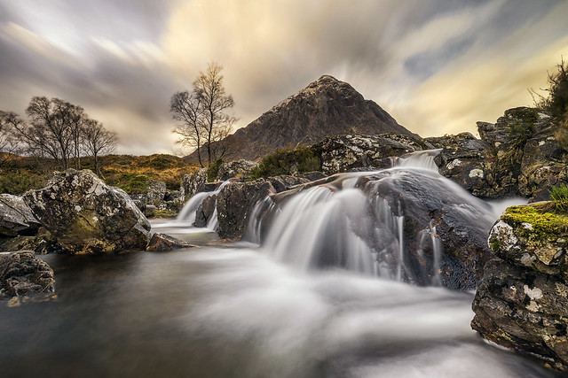 The Iconic Stob Dearg & River Coppull Waterfall, Scotland