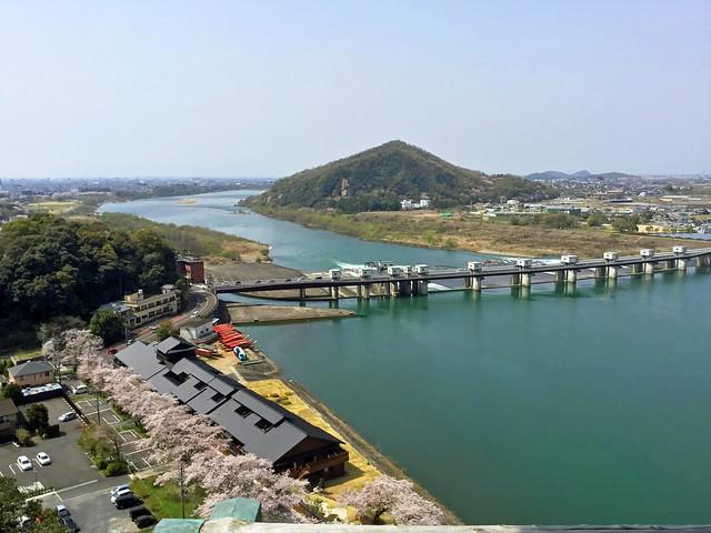 犬山城 天守閣最上階より北西方向 岐阜城方面を眺める IMG_2696_2