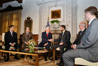 Vice President Michael Pence meets with Venezuelan Opposition Leaders with USAID Administrator Mark Green and Principal Deputy Assistant Secretary Francisco Palmieri