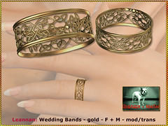 Bliensen - Leannan - Wedding Bands - gold - F+M