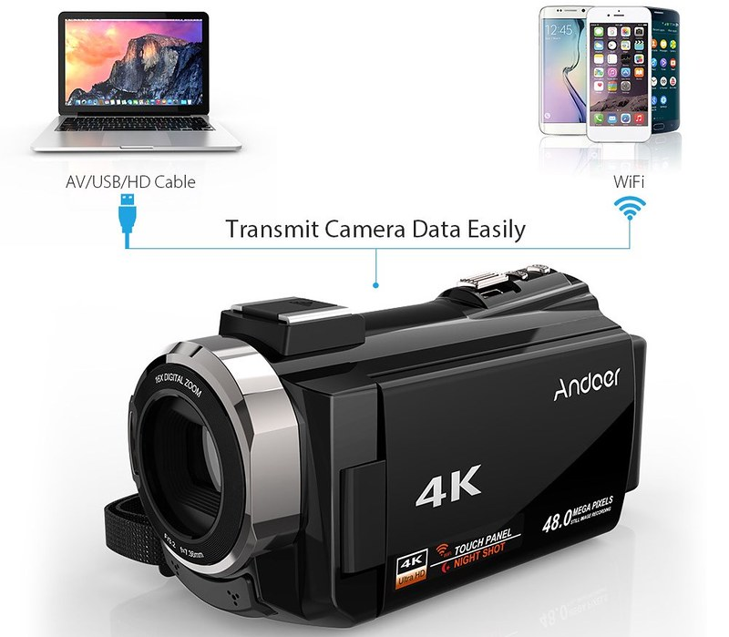 Andoer 4K ビデオカメラ (7)