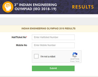 Indian Engineering Olympiad result 2018 declared