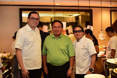 Waterfront Insular Hotel Davao Filipino Food Fiesta dinner buffet starting April 1, 2018 - HM Bryan Lasala, DOT XI RD Antonio Fernando Blanco and Chef Lau | WIHD photo